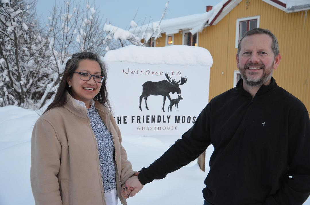 The Friendly Moose owners Paul, Maria and family