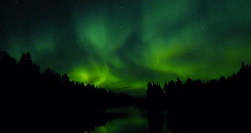 long thin northern lights